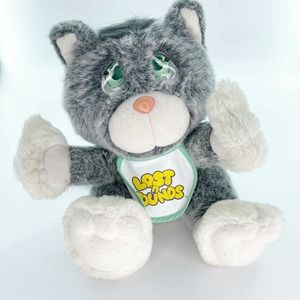 Vtg Lost and Founds Kitty Plush Stuffed Galoob 80s